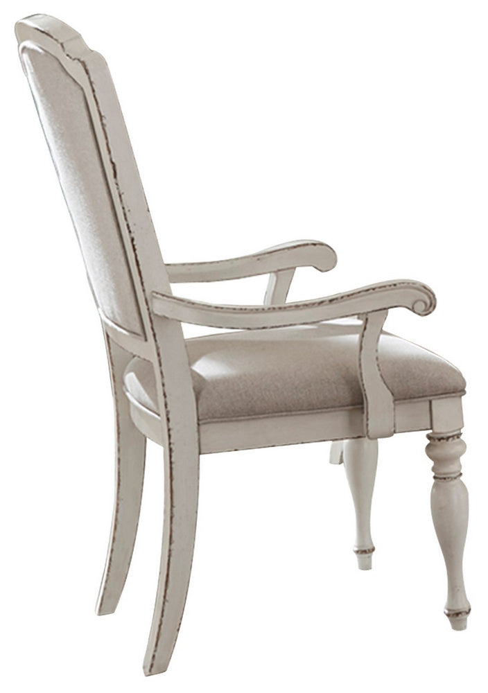 Homelegance Willowick Arm Chair in Antique White (Set of 2) image