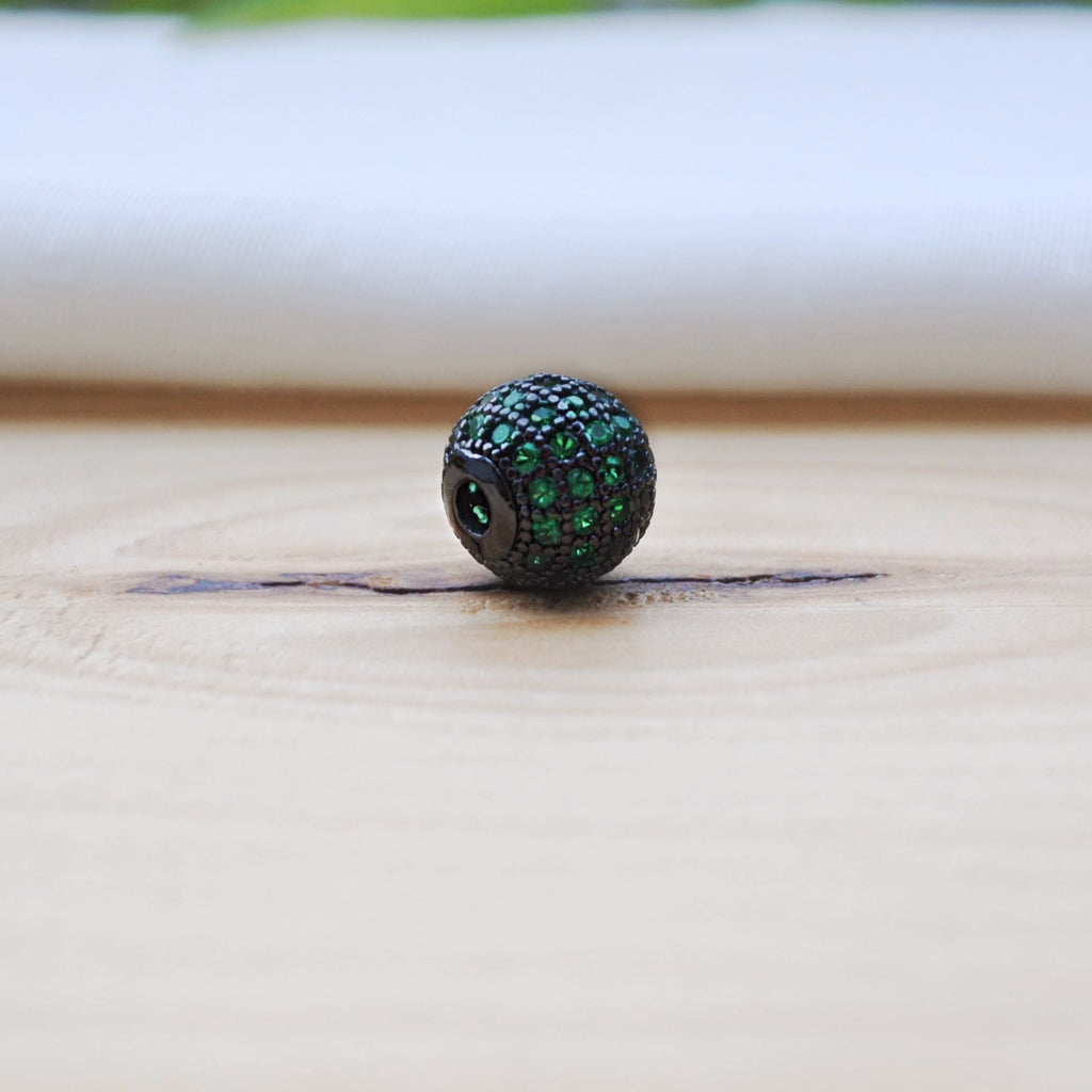 Greenish Black CZ Crystal Ball