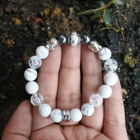 Customize Your Own Bracelet : Acrylic Fashion Beads + Natural Stones