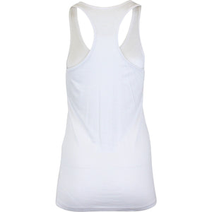 Coffee & Wine Racerback Tank Top in White Tops- Niobe Clothing