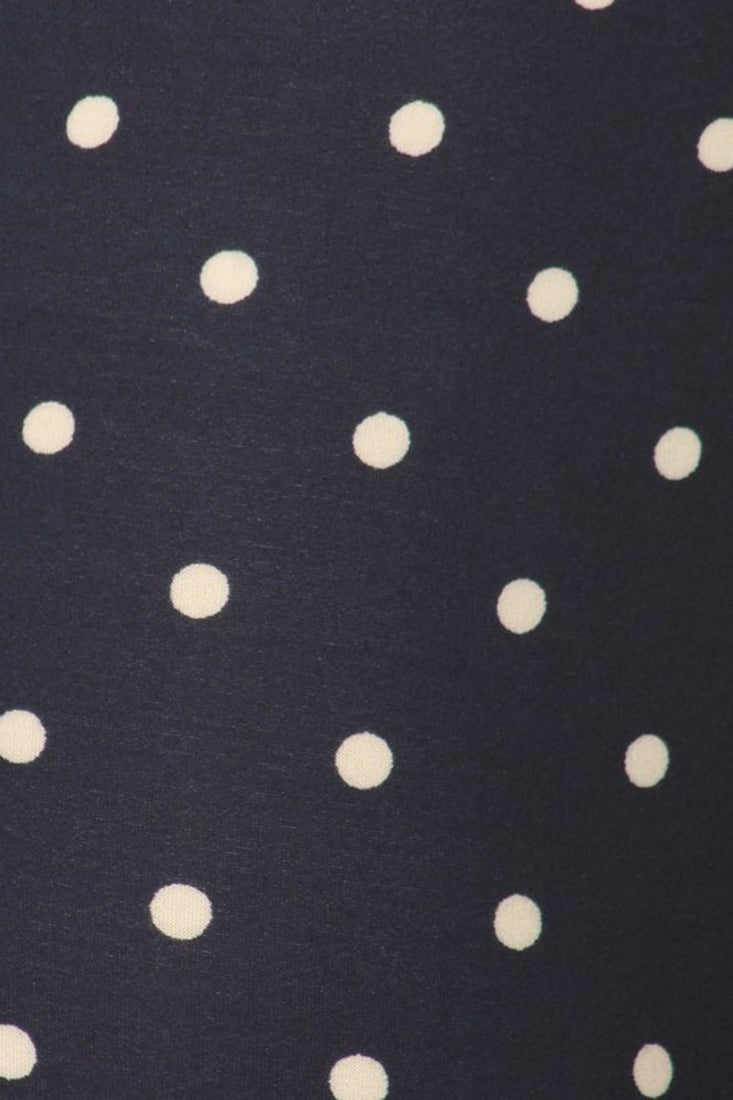 Navy Polka Dot Biker Shorts leggings- Niobe Clothing