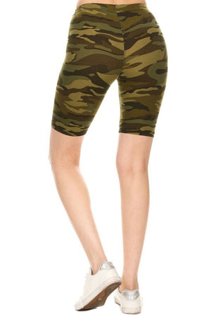 Army Biker Shorts-leggings-Niobe Clothing