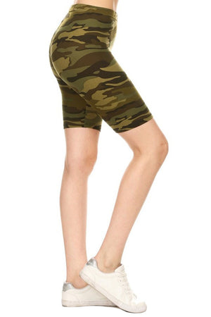 Army Biker Shorts leggings- Niobe Clothing