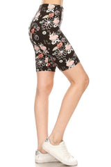 Cow Print Biker Shorts leggings- Niobe Clothing