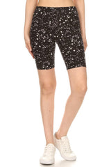 Black Stars Biker Shorts leggings- Niobe Clothing