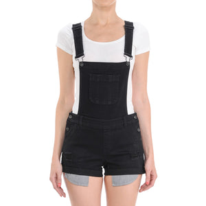 Distressed Denim Shortalls Rompers- Niobe Clothing