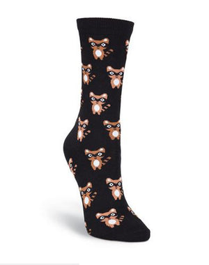 Ninja Raccoon Crew Socks
