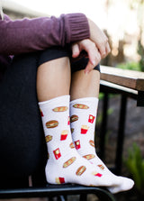 Junk Food Crew Socks Socks- Niobe Clothing