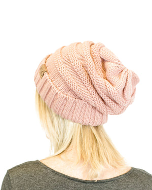 Unisex Solid Color Knit Oversized Slouchy Beanie Hats- Niobe Clothing