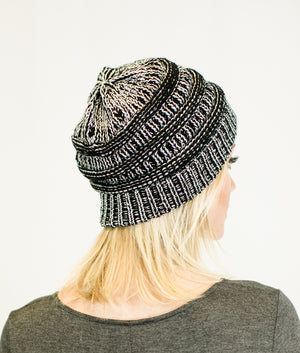 Unisex Two Toned Metallic Soft Stretch Knit Slouchy Beanie-Hats-Niobe Clothing