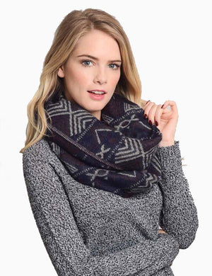 Tribal Design Infinity Loop Scarf-Scarves-Niobe Clothing