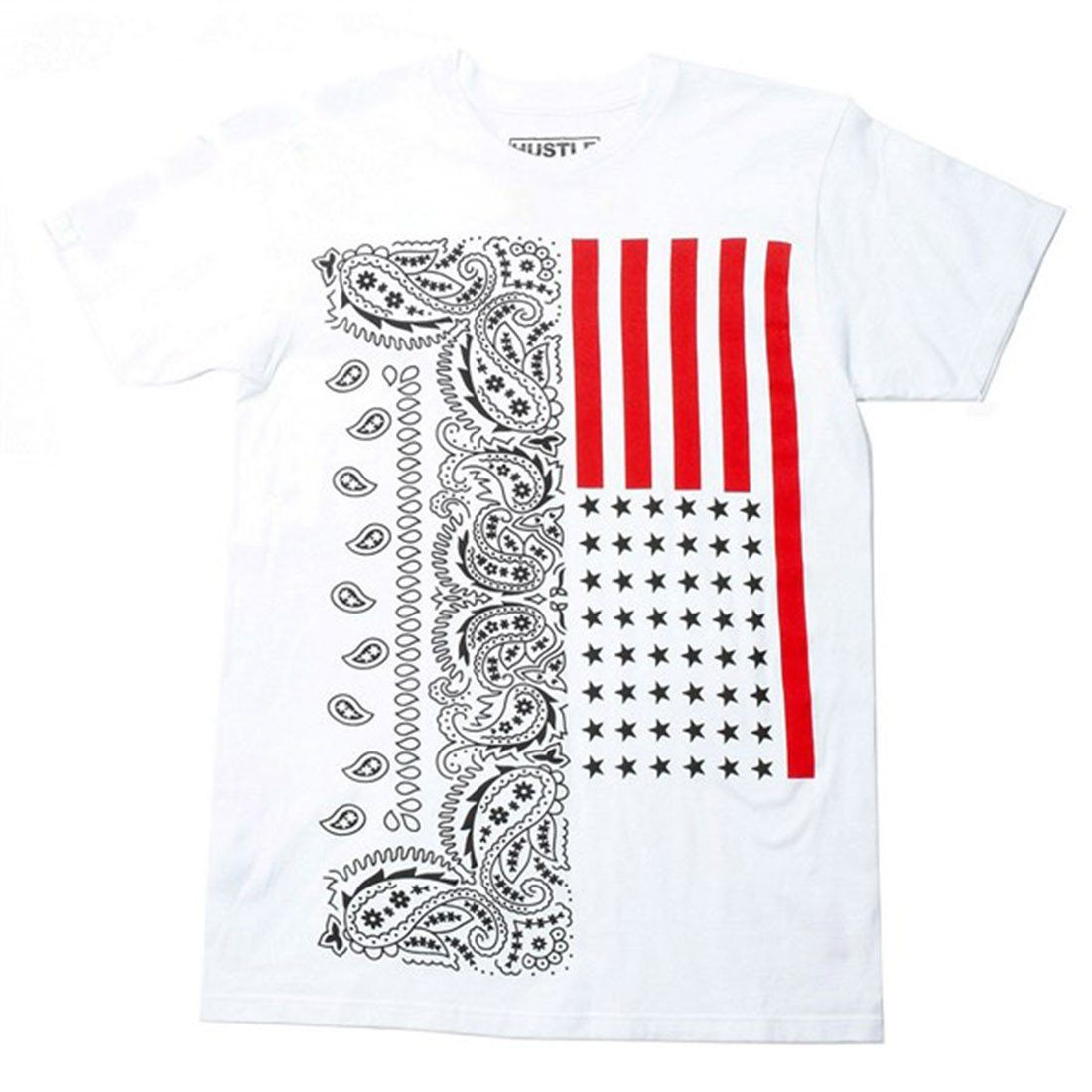 Bandana Stars and Stripes Graphic Slim Fit Shirt Shirts- Niobe Clothing