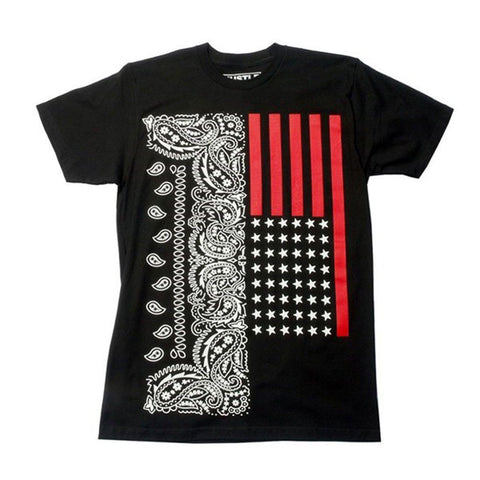 Bandana Stars and Stripes Graphic Slim Fit Shirt - Niobe Clothing - 1