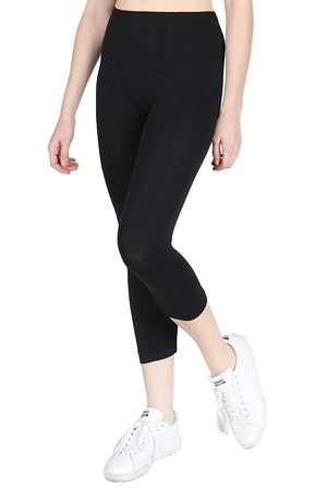 Seamless Nylon Capri Leggings