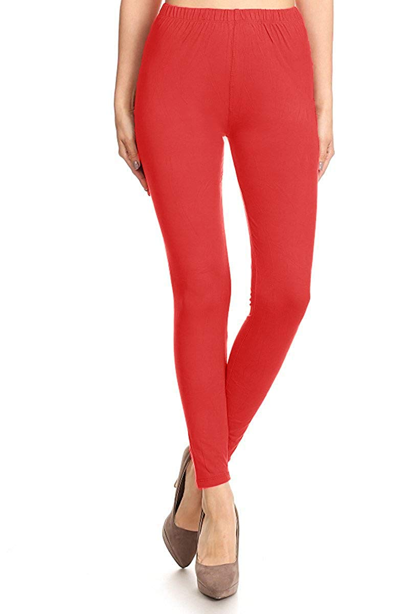 Solid High Waist Soft Lined Leggings leggings- Niobe Clothing