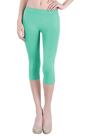 Seamless Nylon Capri Leggings leggings- Niobe Clothing