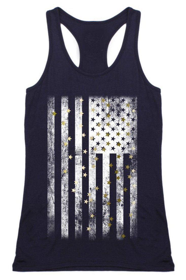 Stars & Stripes Racerback Tank Top