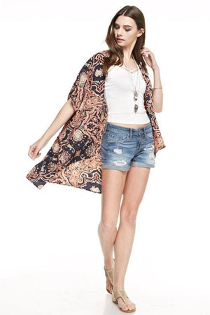 Bohemian Kimono Cardigan Cover Up Cardigans- Niobe Clothing