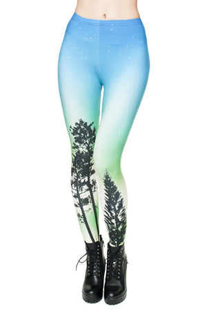 Aurora Digital Print Leggings leggings- Niobe Clothing
