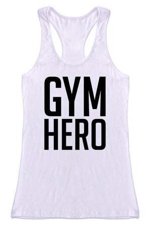 Gym Hero Racerback Tank Top Tops- Niobe Clothing