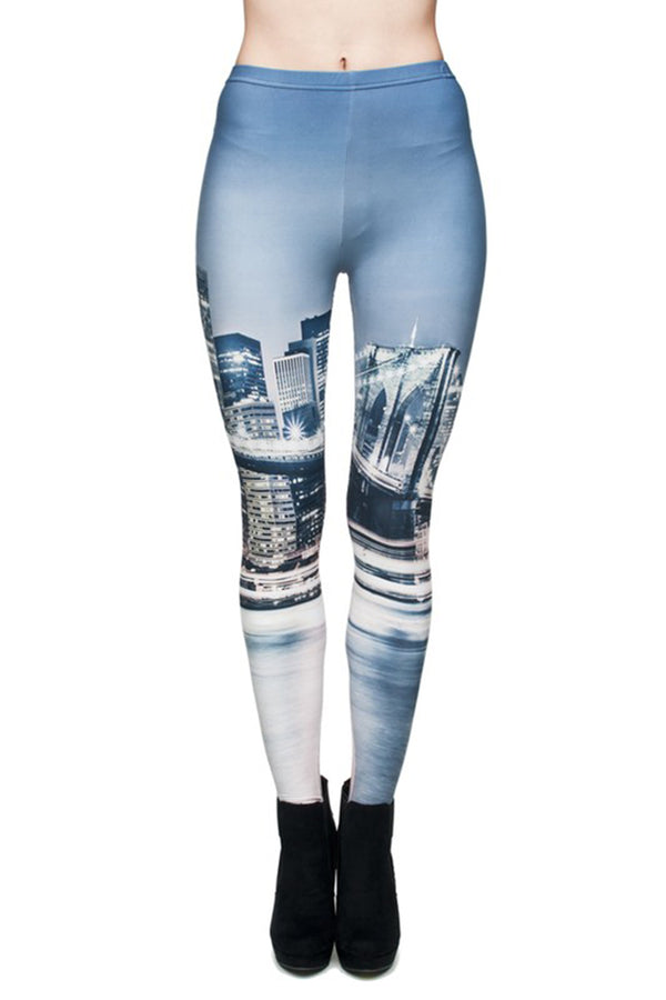 City Life Digital Print Leggings leggings- Niobe Clothing