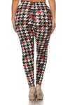 Multi Houndstooth Design Leggings