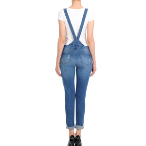 Distressed Denim Overalls Rompers- Niobe Clothing