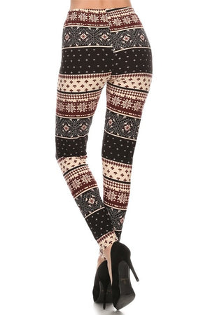 Winter Isle Design Leggings