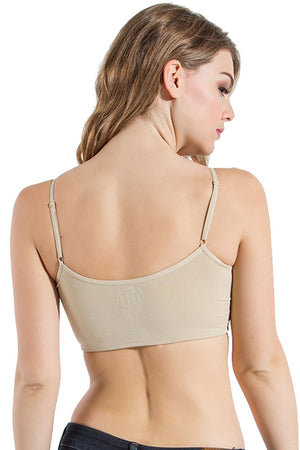 Seamless Camisole Ruched Padded Bra
