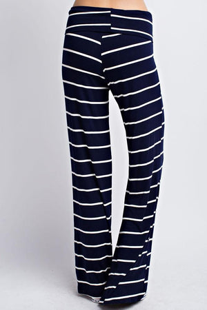 Striped Navy White Casual Lounge Pants