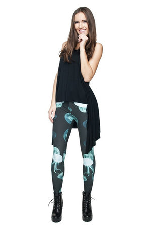 Jellyfish Digital Print Leggings