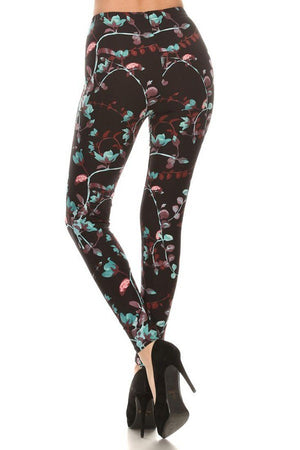 Dark Luminescence Design Leggings leggings- Niobe Clothing