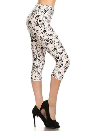 Day & Night Design Plus Size Capri Leggings leggings- Niobe Clothing