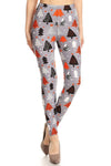 Grey Christmas Tree Design Leggings