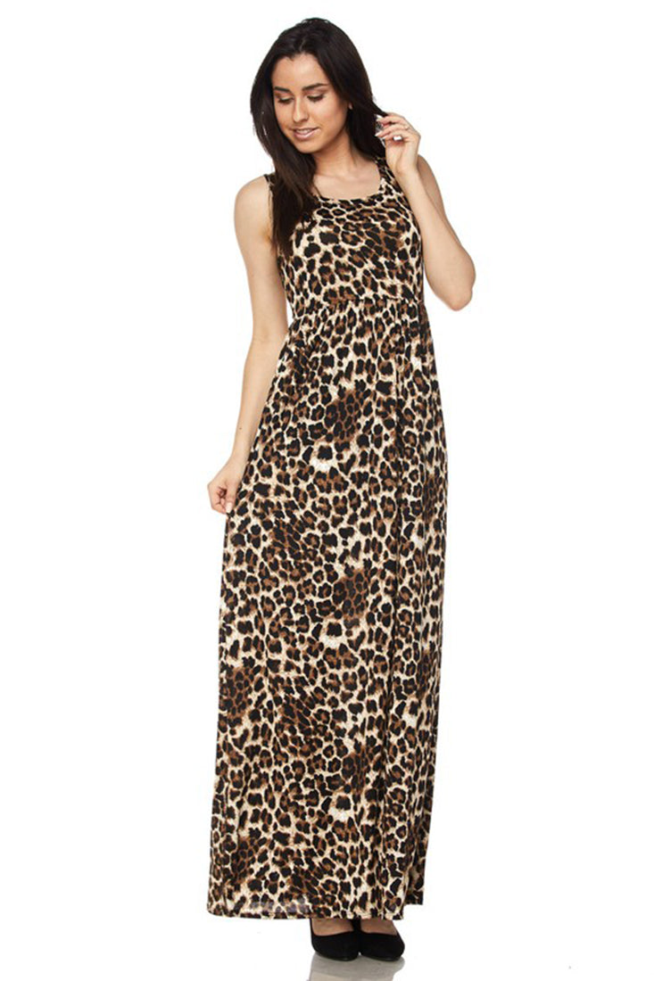 Leopard Maxi Dress dress- Niobe Clothing