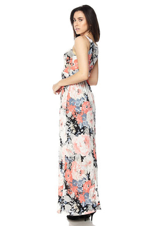 Pastel Floral Maxi Dress-dress-Niobe Clothing