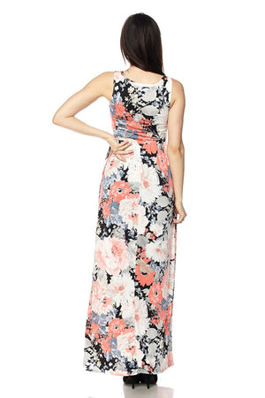 Pastel Floral Maxi Dress dress- Niobe Clothing