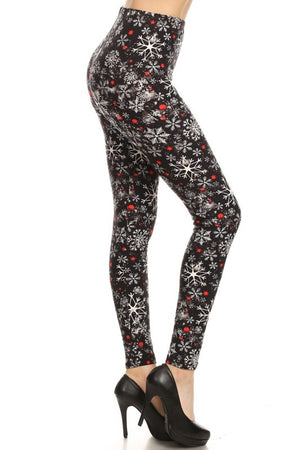 Snowflake Evening Design Leggings