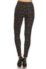 Multi Polka Dots Leggings leggings- Niobe Clothing