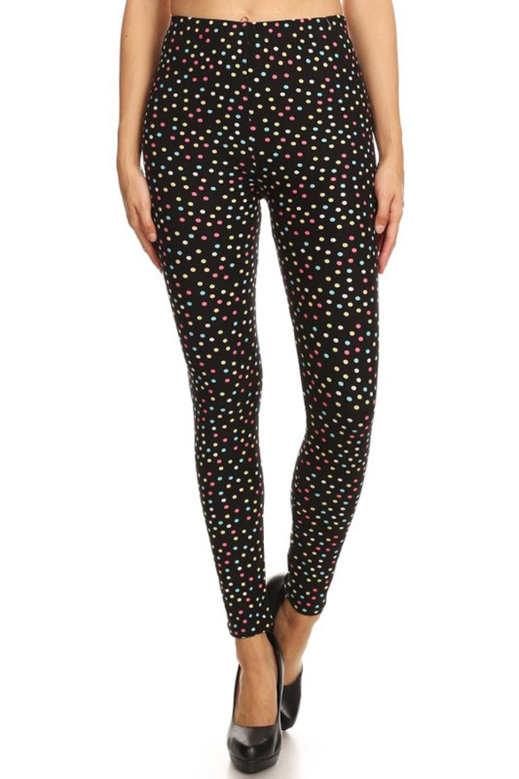 Multi Polka Dots Leggings