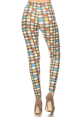Retro Plaid Design Leggings