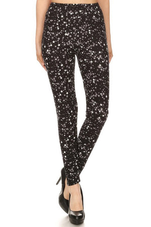 Black Stars Design Leggings