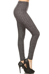 Grey Chevron Leggings leggings- Niobe Clothing