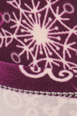 Purple Snowflake Design Leggings