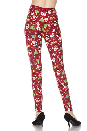 Santa's Here Design Leggings