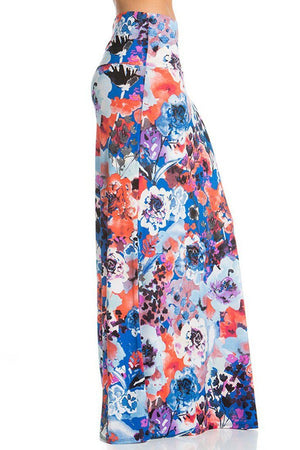 Sunset Blossom Printed Maxi Skirt