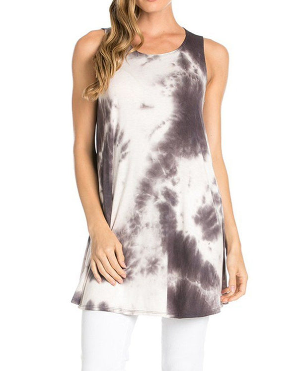 Sleeveless A-line Tank Tunic (Desaturation) Tunics- Niobe Clothing
