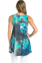 Sleeveless A-line Tank Tunic (Oceanic Waters) Tunics- Niobe Clothing