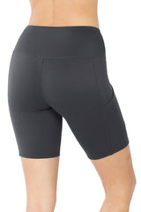 High Waist Active Biker Running Yoga Shorts w/ Pockets