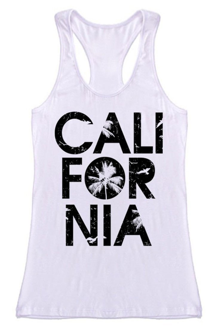 California Racerback Tank Top Tops- Niobe Clothing